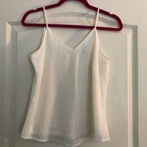 • W H I T E • All white blouse tank